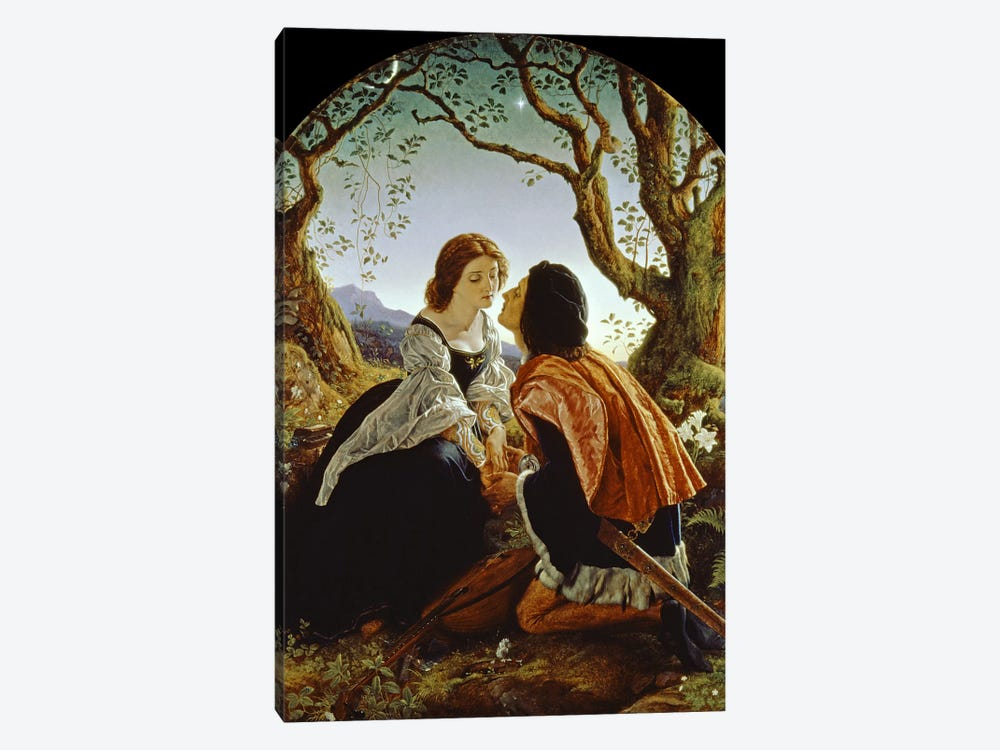 Hesperus, the Evening Star, Sacred to Lovers, 1855  by Sir Joseph Noel Paton 1-piece Canvas Print