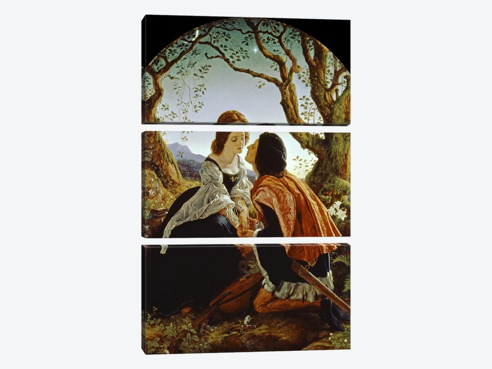 Hesperus, the Evening Star, Sacred to Lovers, 1855  by Sir Joseph Noel Paton 3-piece Art Print