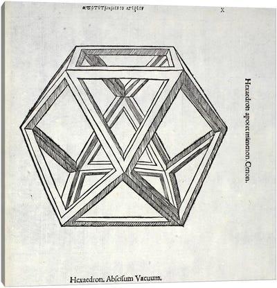 Hexaedron Abscisum Vacuum Canvas Art Print