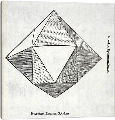 Hexaedron Elevatum Solidum Canvas Art Print