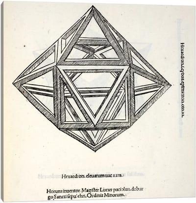 Hexaedron Elevatum Vacuum Canvas Art Print