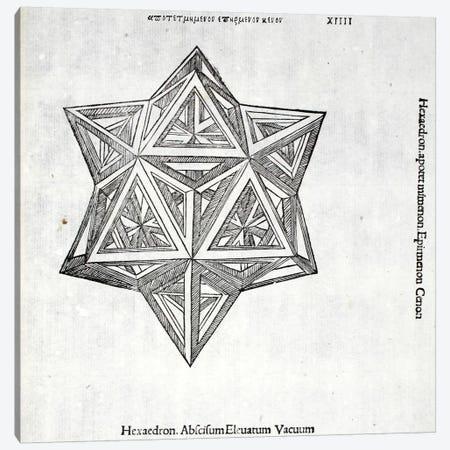 Hexacedron Abscisum Elevatum Vacuum Canvas Print #BMN4224} by Leonardo da Vinci Art Print