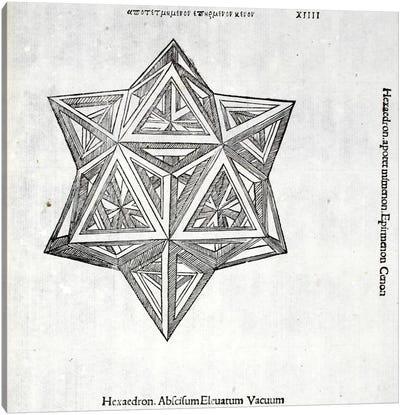 Hexacedron Abscisum Elevatum Vacuum Canvas Art Print