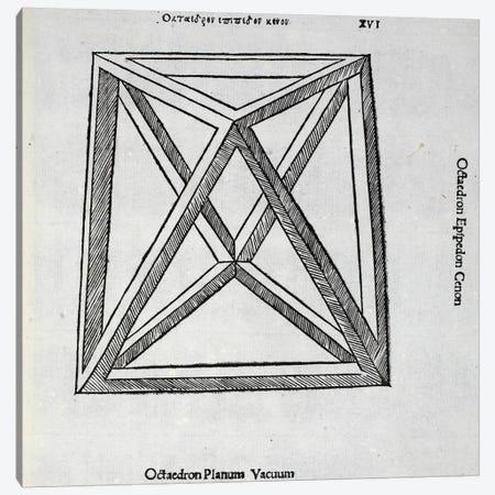 Octocedron Planum Vacuum Canvas Print #BMN4226} by Leonardo da Vinci Art Print