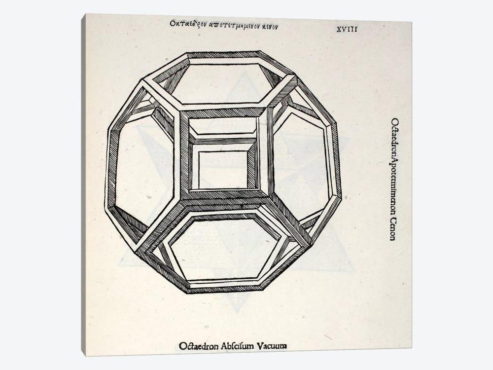 Octocedron Abscisum Vacuum by Leonardo da Vinci 1-piece Canvas Art