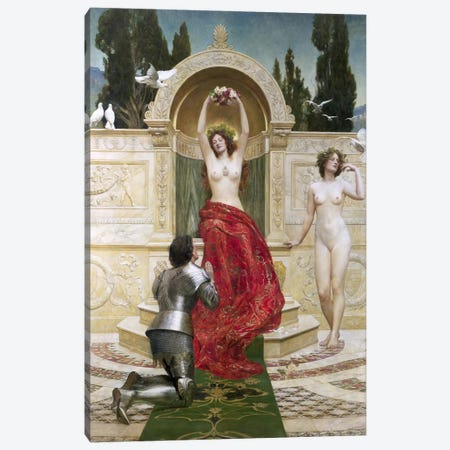 In the Venusburg  Canvas Print #BMN422} by John Collier Canvas Artwork