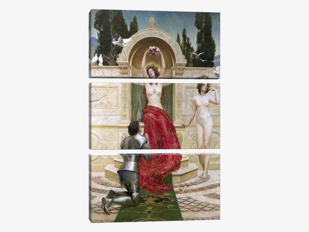 In the Venusburg  by John Collier 3-piece Canvas Art