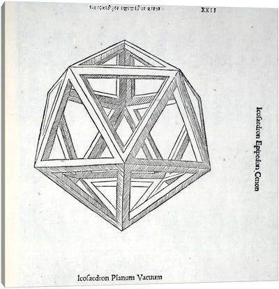 Icosaedron Planum Vacuum Canvas Art Print