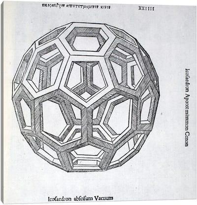 Icosaedron Abscisum Vacuum Canvas Art Print