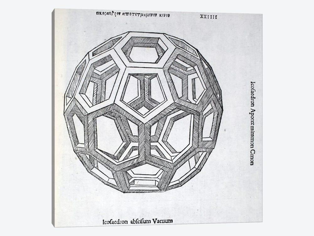 Icosaedron Abscisum Vacuum by Leonardo da Vinci 1-piece Canvas Wall Art
