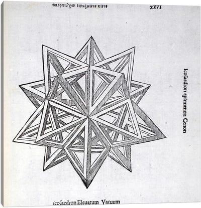 Icosaedron Elevatum Vacuum Canvas Art Print