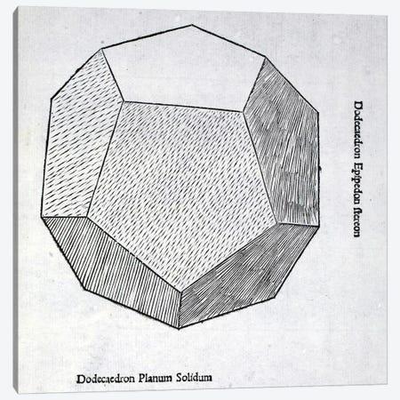 Dodecaedron Planum Solidum Canvas Print #BMN4236} by Leonardo da Vinci Canvas Artwork