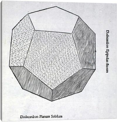 Dodecaedron Planum Solidum Canvas Art Print