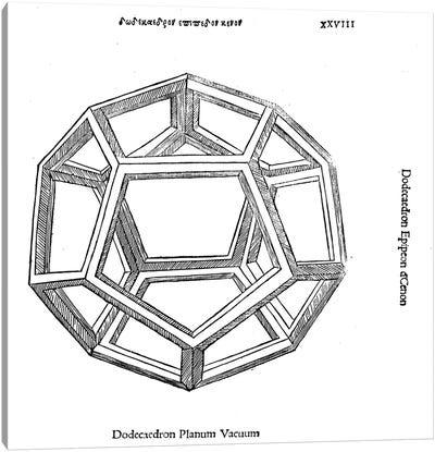 Dodecaedron Planum Vacuum Canvas Art Print