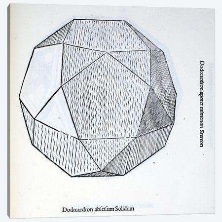 Dodecaedron Abscisum Solidum Canvas Print #BMN4238} by Leonardo da Vinci Canvas Art Print