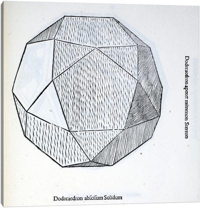 Dodecaedron Abscisum Solidum Canvas Art Print