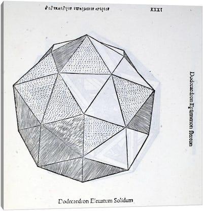 Dodecaedron Elevatum Solidum Canvas Art Print