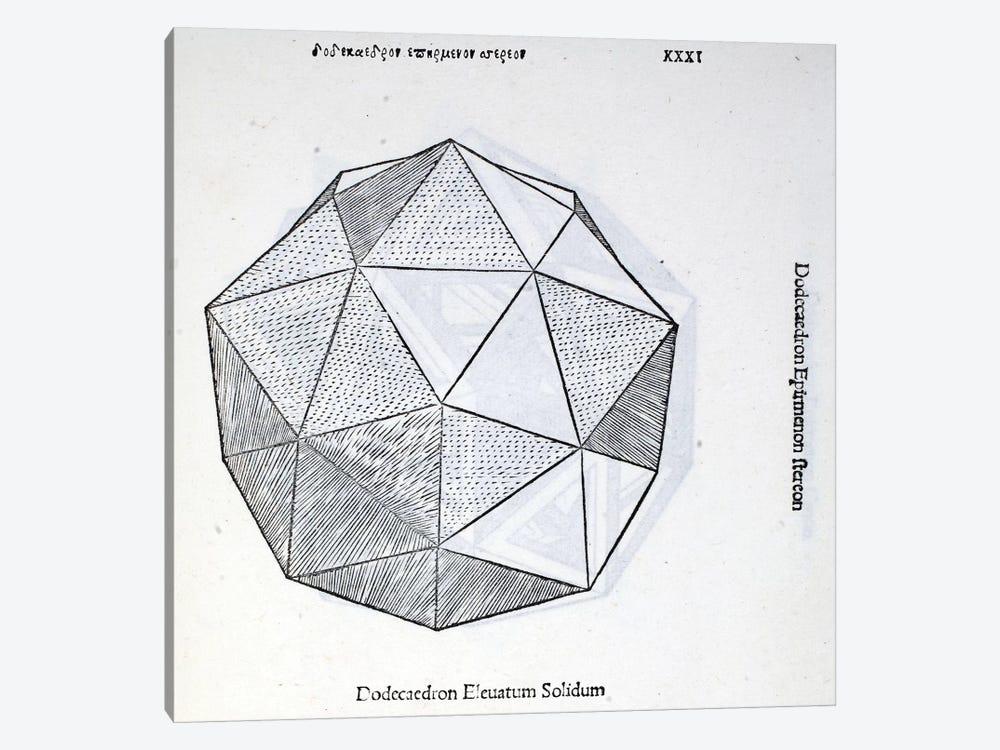 Dodecaedron Elevatum Solidum by Leonardo da Vinci 1-piece Canvas Artwork