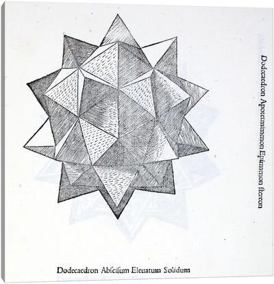 Dodecaedron Abscisum Elevatum Solidum Canvas Art Print