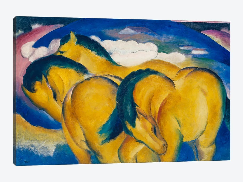 The Little Yellow Horses, 1912  by Franz Marc 1-piece Canvas Art Print