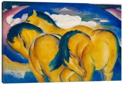The Little Yellow Horses, 1912  Canvas Art Print