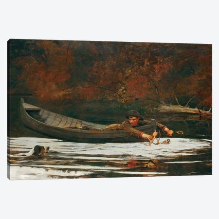 Hound And Hunter, 1892  Canvas Print #BMN4244} by Winslow Homer Canvas Print