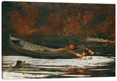 Hound And Hunter, 1892  Canvas Print #BMN4244