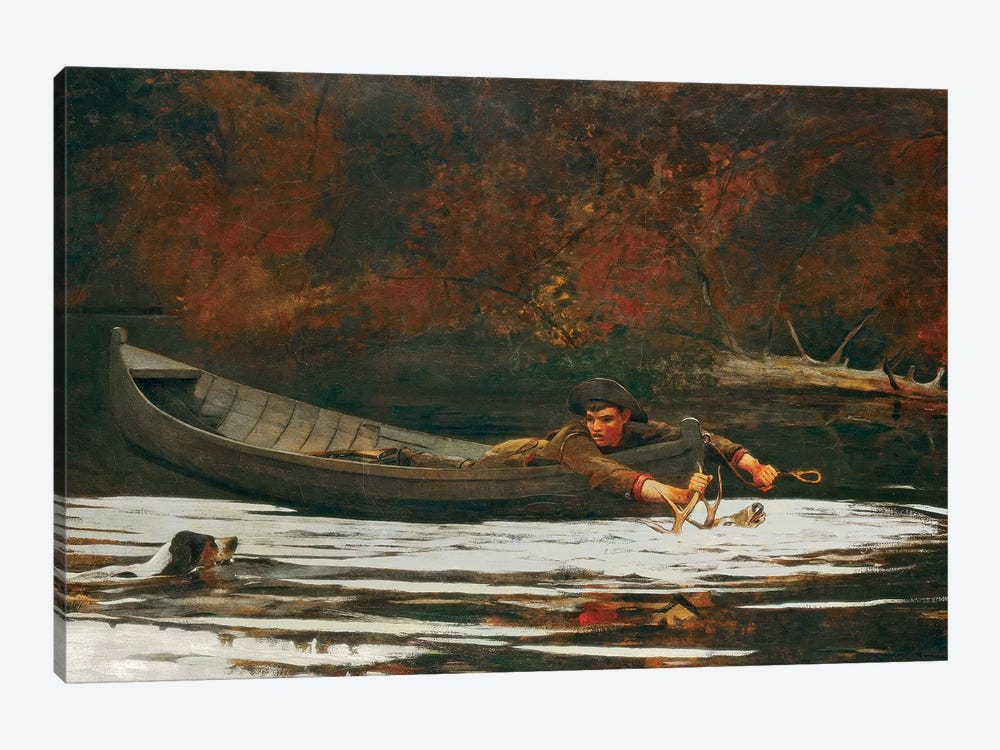 Hound And Hunter, 1892  by Winslow Homer 1-piece Canvas Artwork
