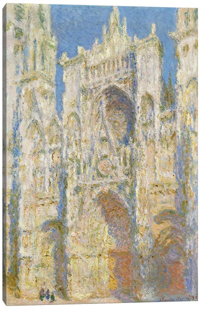 Rouen Cathedral, West Facade, Sunlight, 1894  Canvas Print #BMN4245