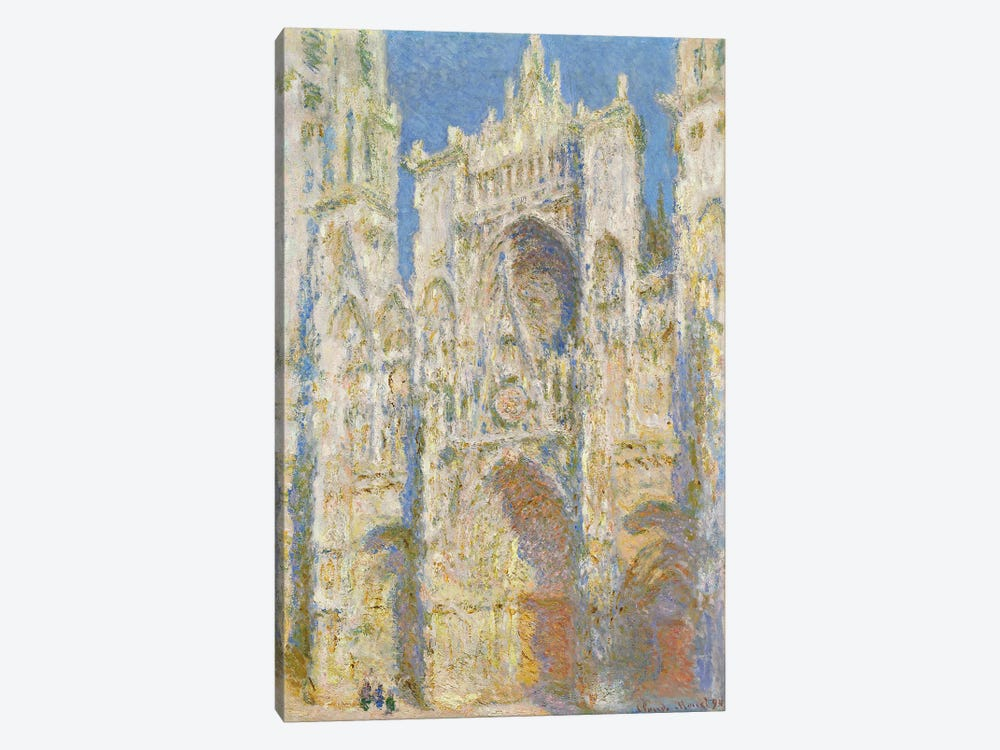 Rouen Cathedral, West Facade, Sunlight, 1894  by Claude Monet 1-piece Canvas Print