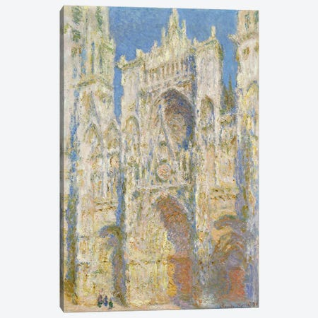 Rouen Cathedral, West Facade, Sunlight, 1894  Canvas Print #BMN4245} by Claude Monet Canvas Art Print