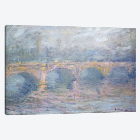 Waterloo Bridge, London, at Sunset, 1904  Canvas Print #BMN4248} by Claude Monet Canvas Wall Art