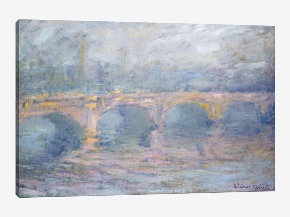 Waterloo Bridge, London, at Sunset, 1904  by Claude Monet 1-piece Canvas Wall Art
