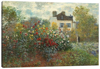 The Artist's Garden in Argenteuil  Canvas Art Print