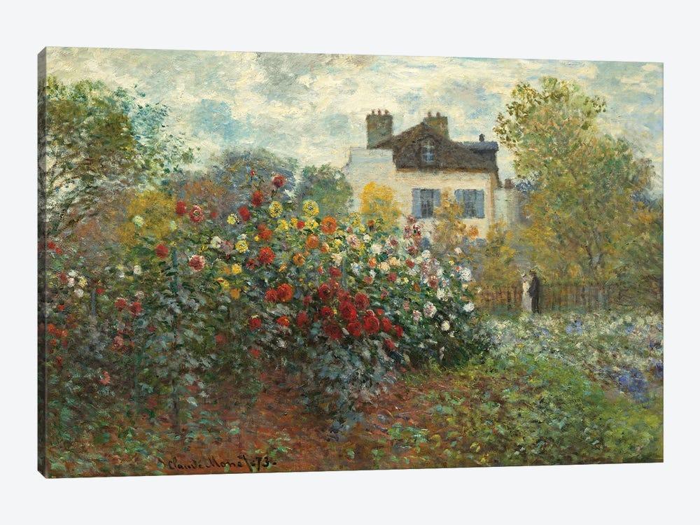 The Artist's Garden in Argenteuil  by Claude Monet 1-piece Canvas Art