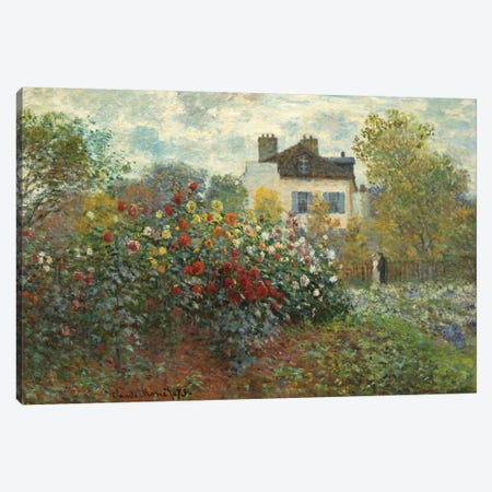 The Artist's Garden in Argenteuil  Canvas Print #BMN4251} by Claude Monet Canvas Print