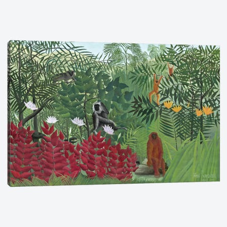 Tropical Forest With Monkeys, 1910 Canvas Print #BMN4254} by Henri Rousseau Canvas Art