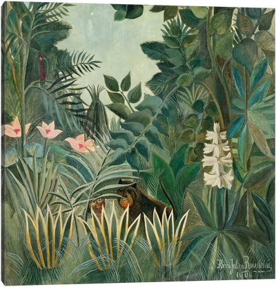 The Equatorial Jungle, 1909 by Henri Rousseau Canvas Art