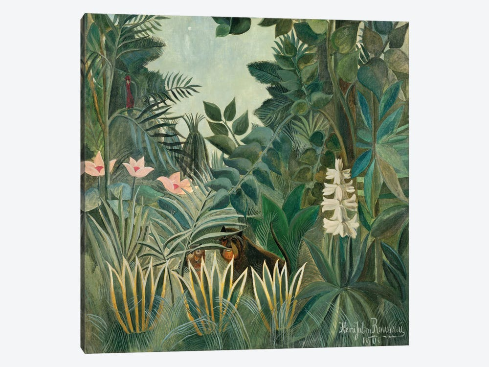 The Equatorial Jungle, 1909  by Henri Rousseau 1-piece Art Print