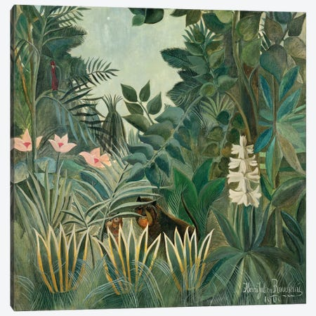 The Equatorial Jungle, 1909  Canvas Print #BMN4256} by Henri Rousseau Canvas Art