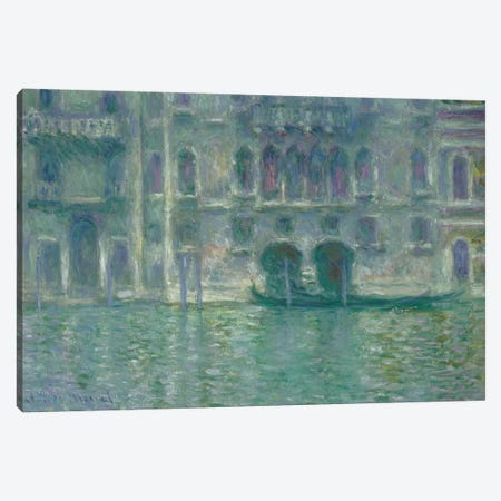 Palazzo da Mula, Venice, 1908  Canvas Print #BMN4257} by Claude Monet Canvas Artwork