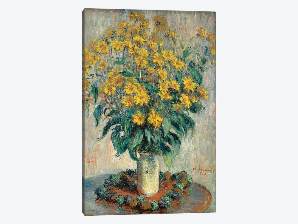 Jerusalem Artichoke Flowers, 1880  by Claude Monet 1-piece Art Print
