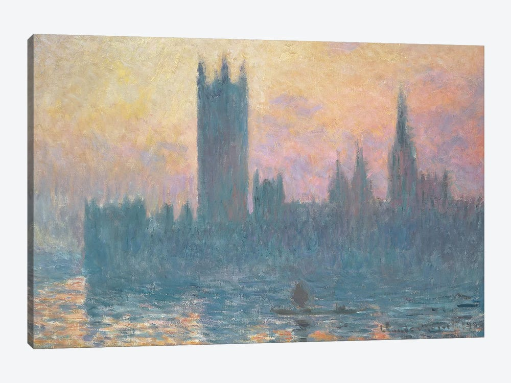 The Houses of Parliament, Sunset, 1903  by Claude Monet 1-piece Canvas Artwork