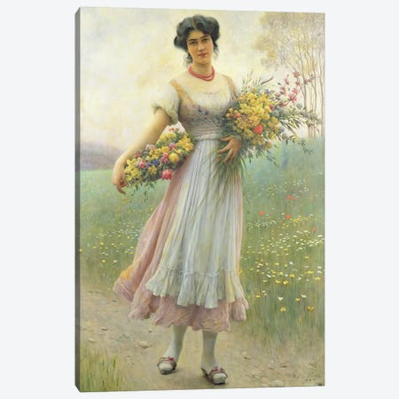 Spring Flowers Canvas Print #BMN425} by Eugen von Blaas Canvas Print