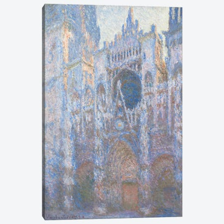 Rouen Cathedral, West facade, 1894  Canvas Print #BMN4260} by Claude Monet Canvas Art