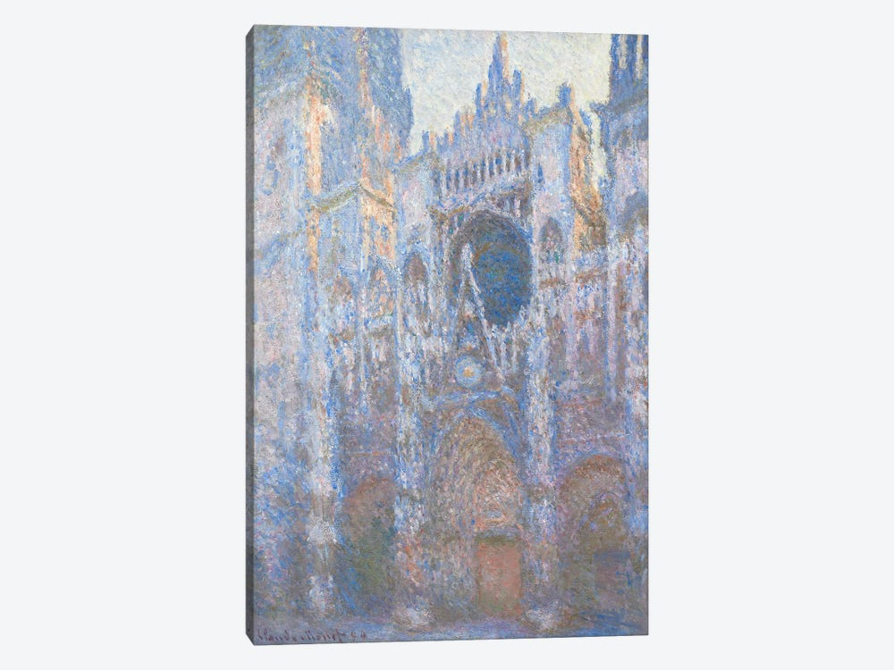Rouen Cathedral, West facade, 1894  by Claude Monet 1-piece Canvas Wall Art