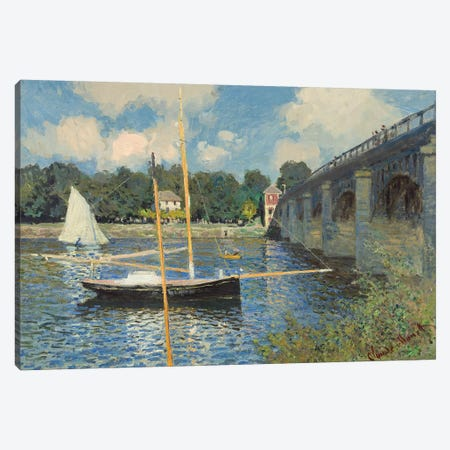 The Bridge at Argenteuil, 1874  Canvas Print #BMN4261} by Claude Monet Canvas Art