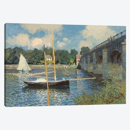 The Bridge at Argenteuil, 1874  Canvas Print #BMN4261} by Claude Monet Canvas Art