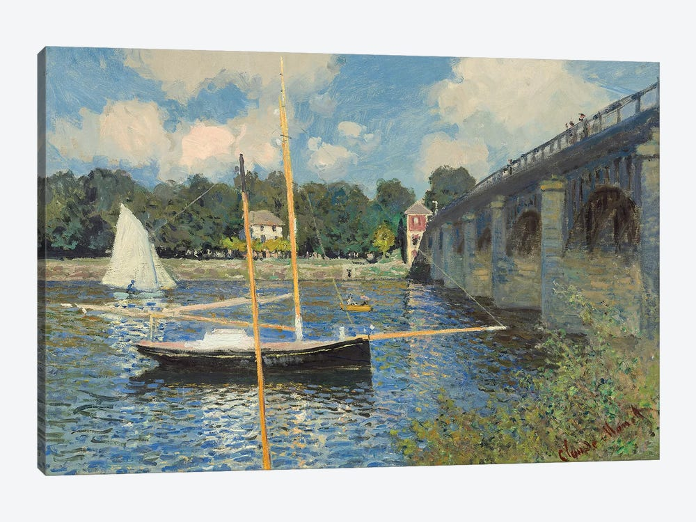 The Bridge at Argenteuil, 1874  by Claude Monet 1-piece Canvas Art Print