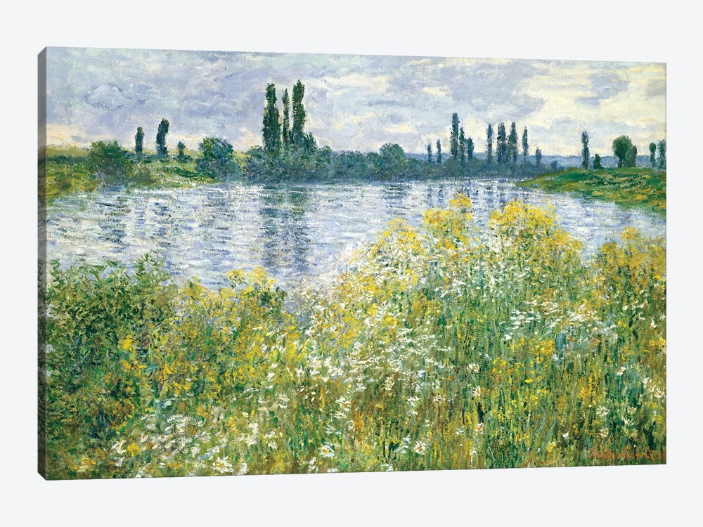 Banks of the Seine, Vetheuil, 1880  by Claude Monet 1-piece Canvas Artwork